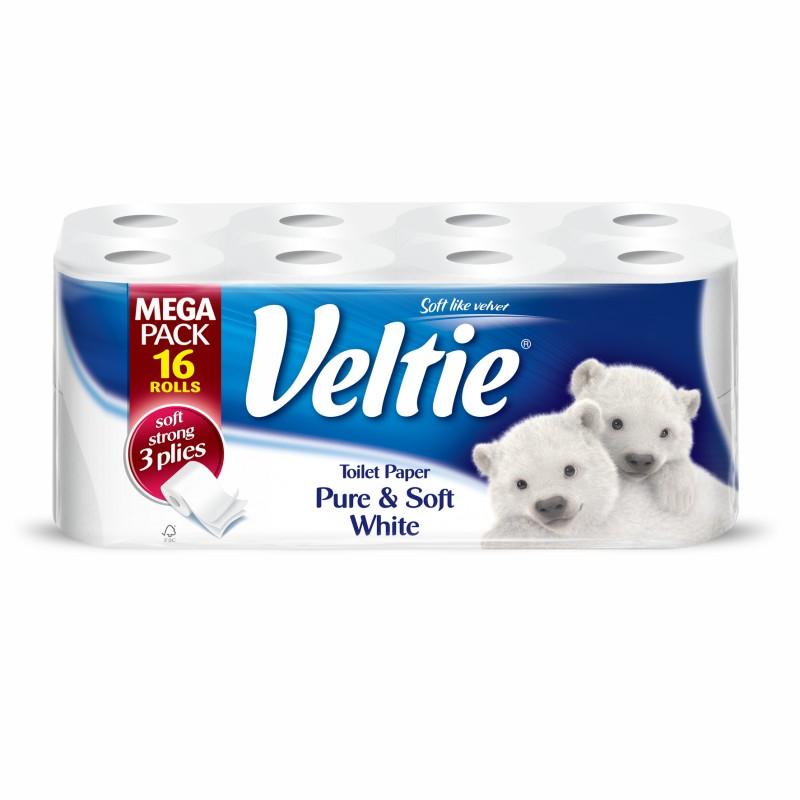 Toilet Paper Veltie Pure & Soft  16 Rolls