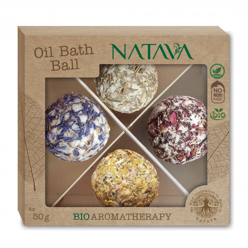 Christmas gift box BIO aromatherapy Oil BAth Ball 4x50g