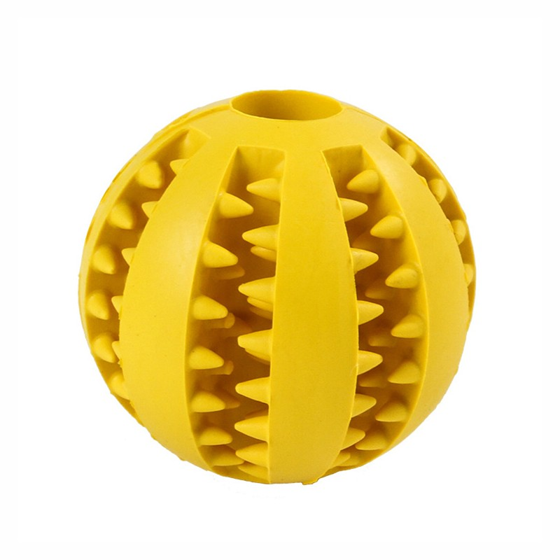 Pet Ball with Dental Care Function Dog Toy with Knobs for Treats Robust Dog Toy Ball for Large and Small Dogs Diameter 7,5 cm