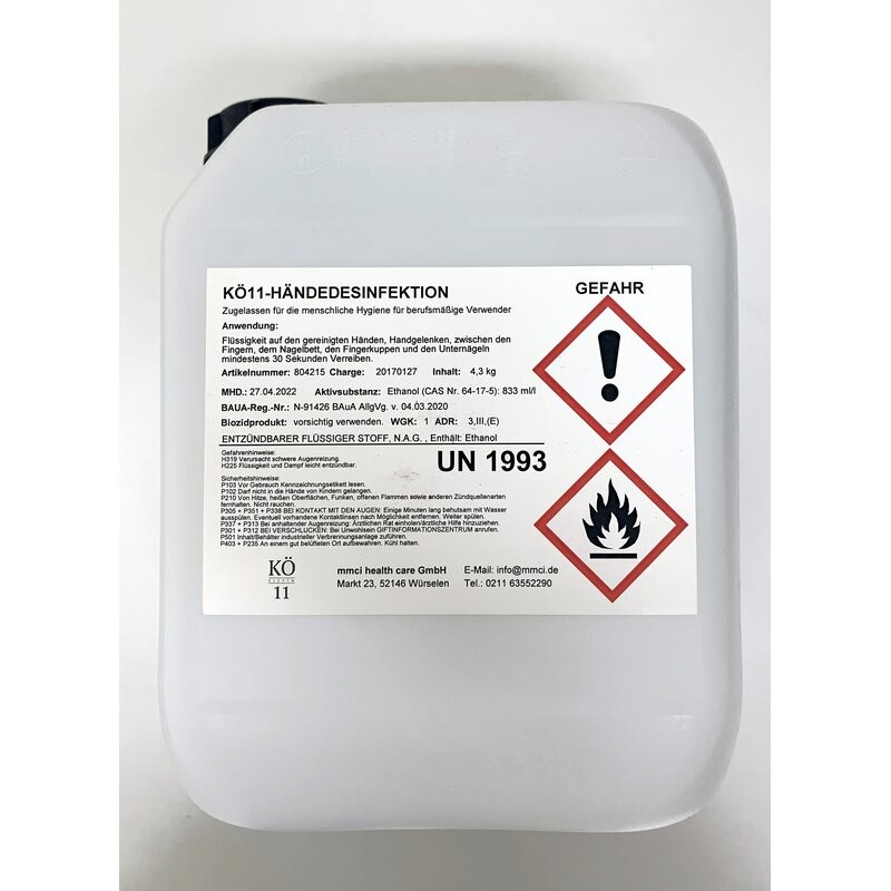 Hand disinfectant Kö Eleven 5L