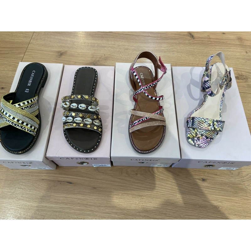 Clearance - Café Noir Sandals-4 models- Various sizes - Total 24 pairs