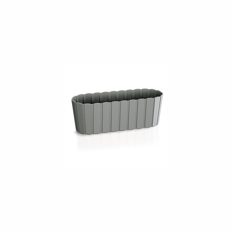 Balcony flower pot BOARDEE - stone gray