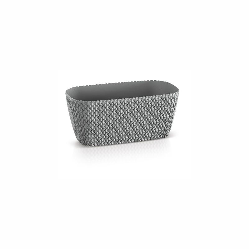 Flower pot SPLOFY - stone gray
