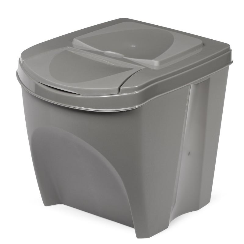Waste bin - stone gray