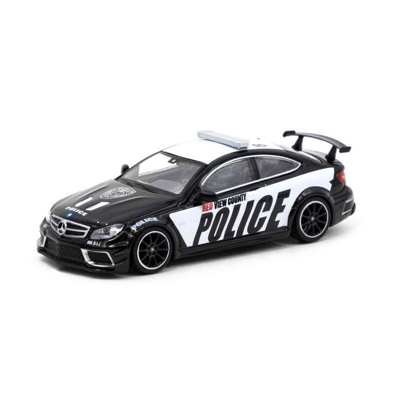 """Tarmac T64G-009-PC Mercedes Benz C63 AMG """"Police Car"""" Coupe scale 1:64"""
