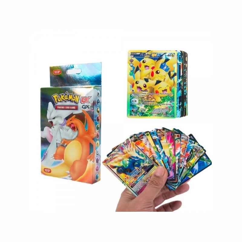 100 verschiedene Pokemon Karten 20MEGA 58BASIC 20GX 1TAG TEAM 1ENERGY Booster Box Trading Cards