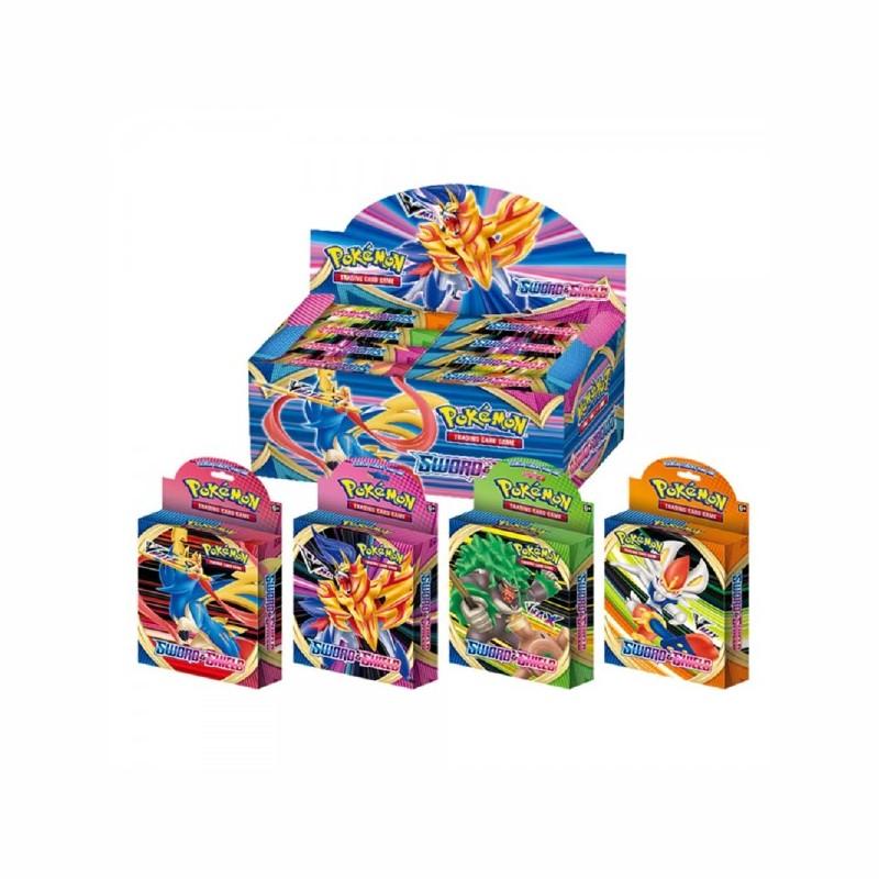 Pokemon Schwert & Schild VMAX Booster Box 8 Boxen Spiel Handel Sammler englische Karten