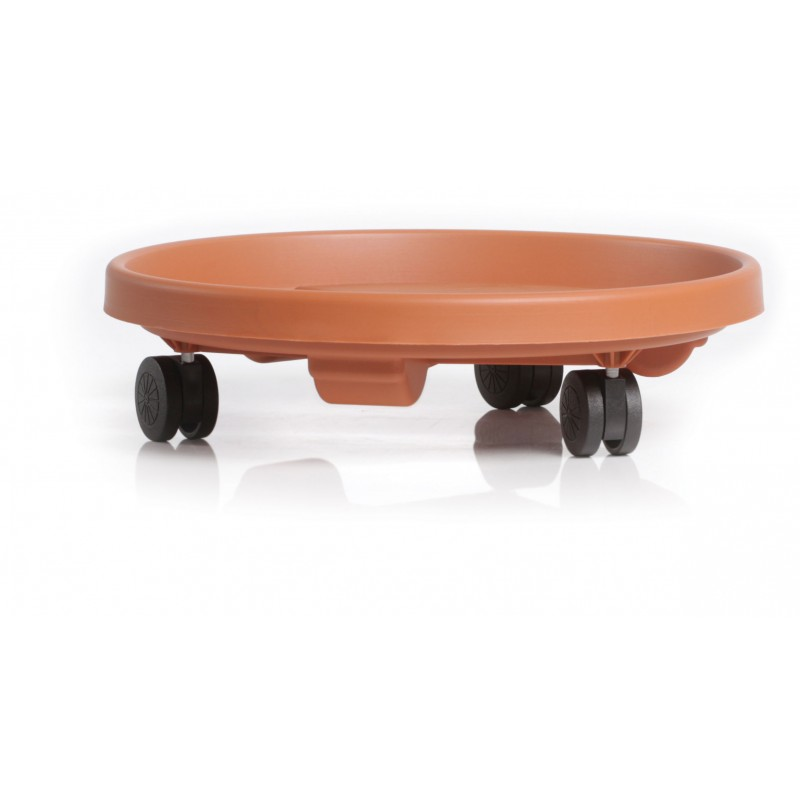 Plant rolling saucer RONDO - TERRACOTTA