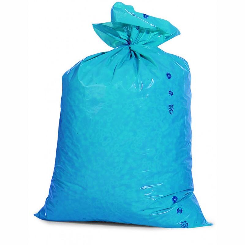 PE-AbfallsackPremium 700x1100mm, 28µ. blau, Inhalt 120l. 25 St. je Ro./10 Ro. je Karton