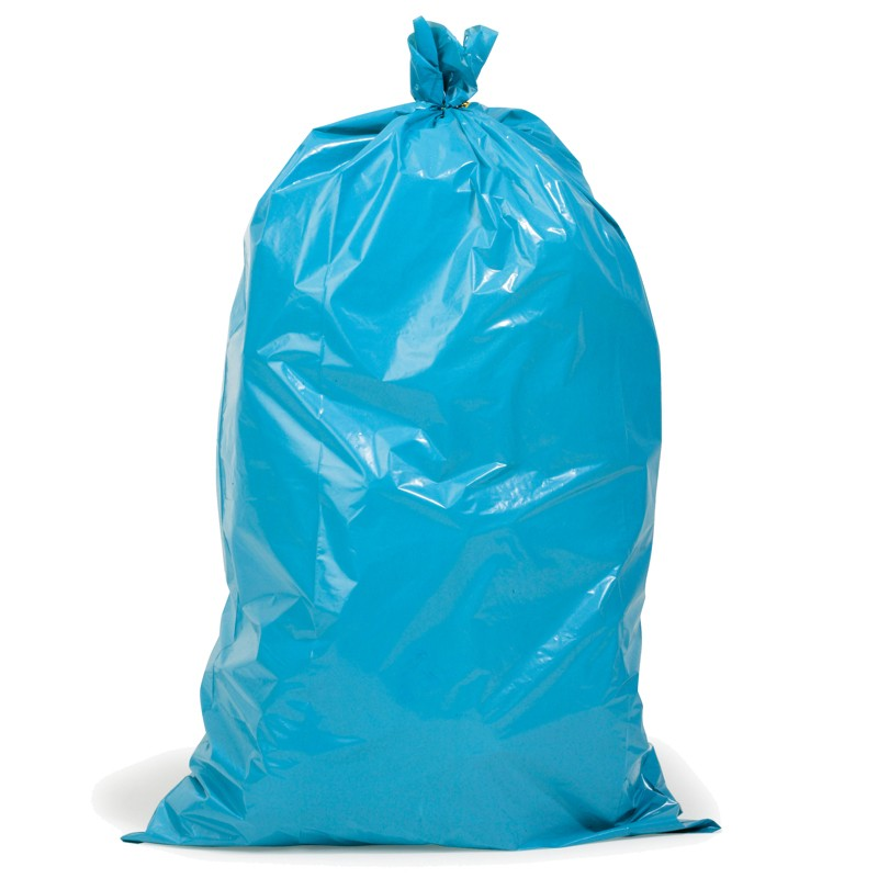 PE-Abfallsack 700x1100mm, 200µ. blau, Inhalt 120l. für Schwergut