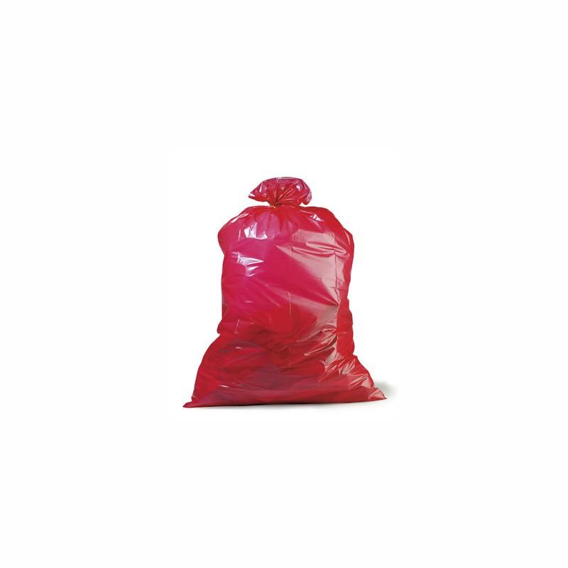 PE-Abfallsack Premium 700x1100mm, 45µ. rot, Inhalt 120l,. 25 St. je Ro./10 Ro. je Karton