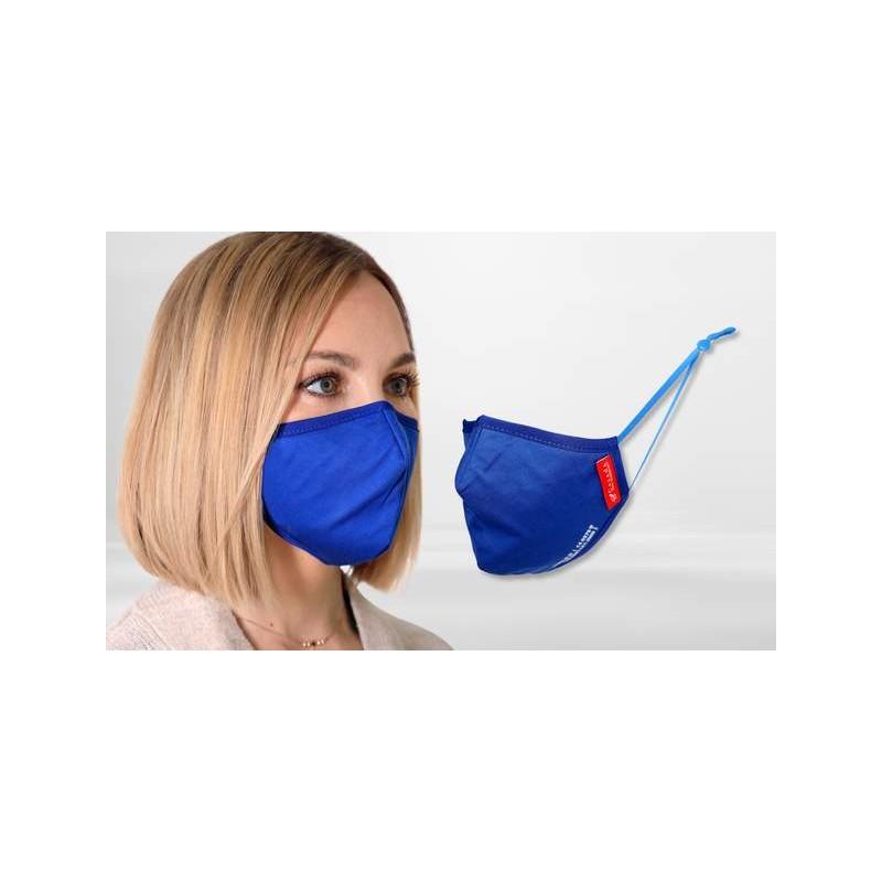 FFP2 Nano-Facemask, CE certified with adjustable ear loops Königsblau/Blue