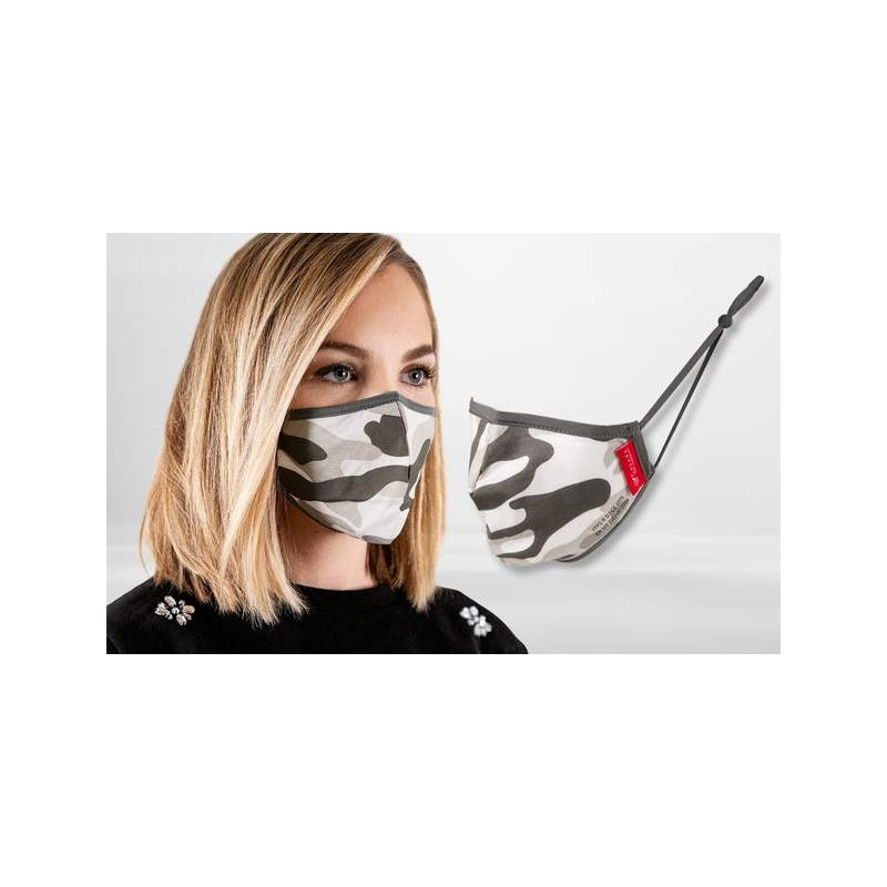 FFP2 Nano-Facemask, CE certified with adjustable ear loops Camouflage