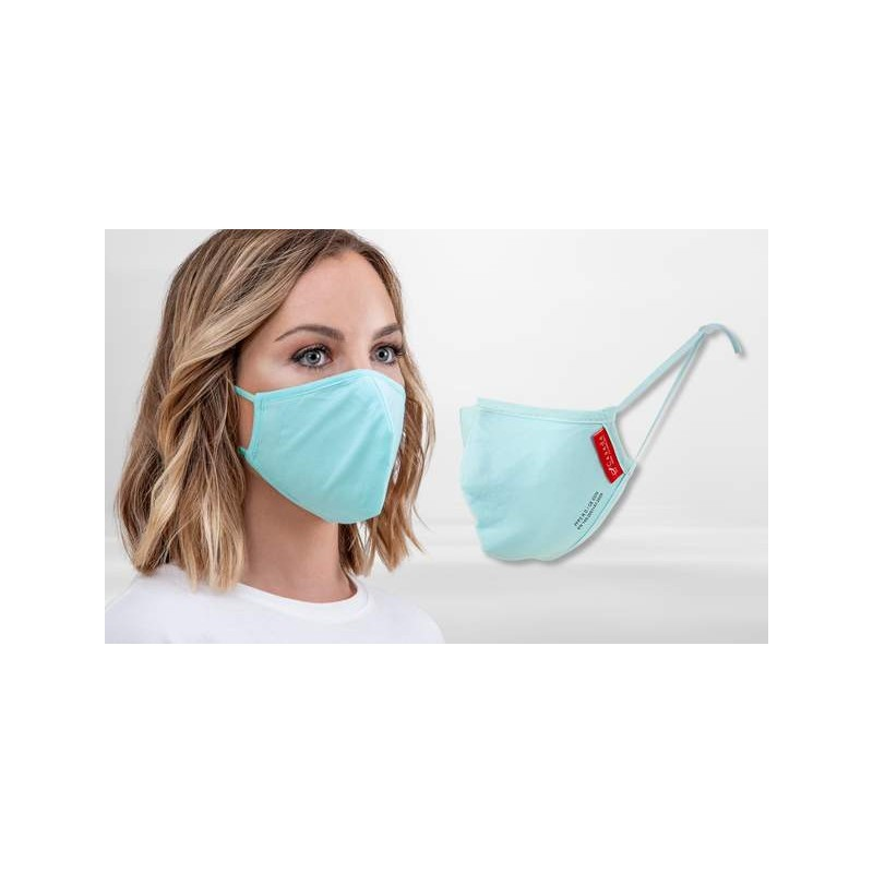 FP2 Nano-Facemask, CE certified with adjustable ear loops Light Blue