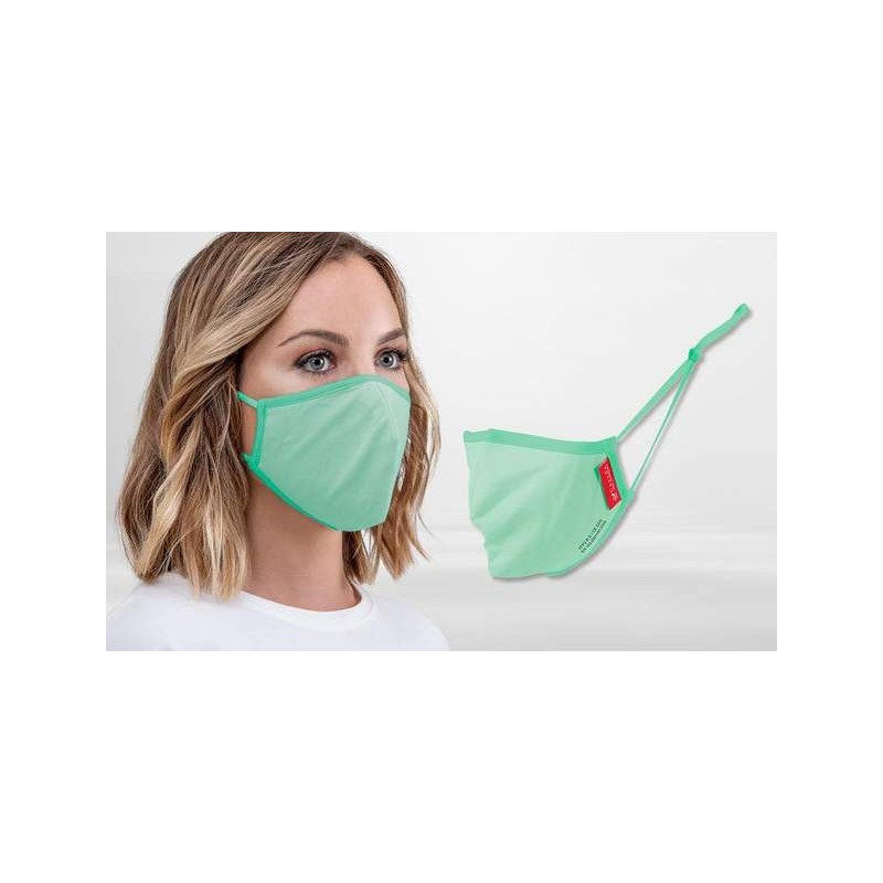 FFP2 Nano-Facemask, CE certified with adjustable ear loops Avocado Green