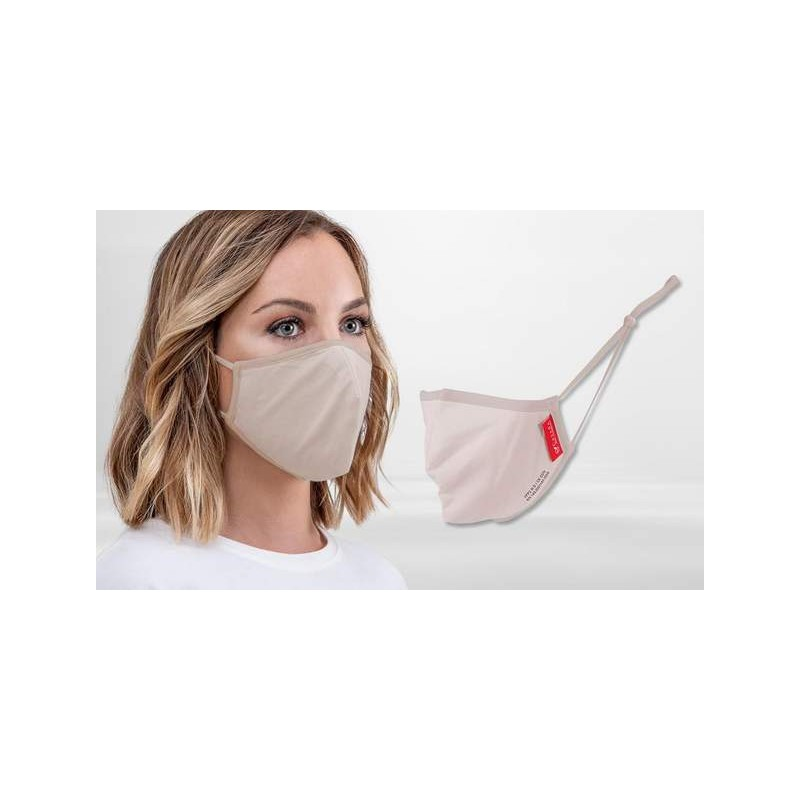FFP2 Nano-Facemask, CE certified with adjustable ear loops Nude