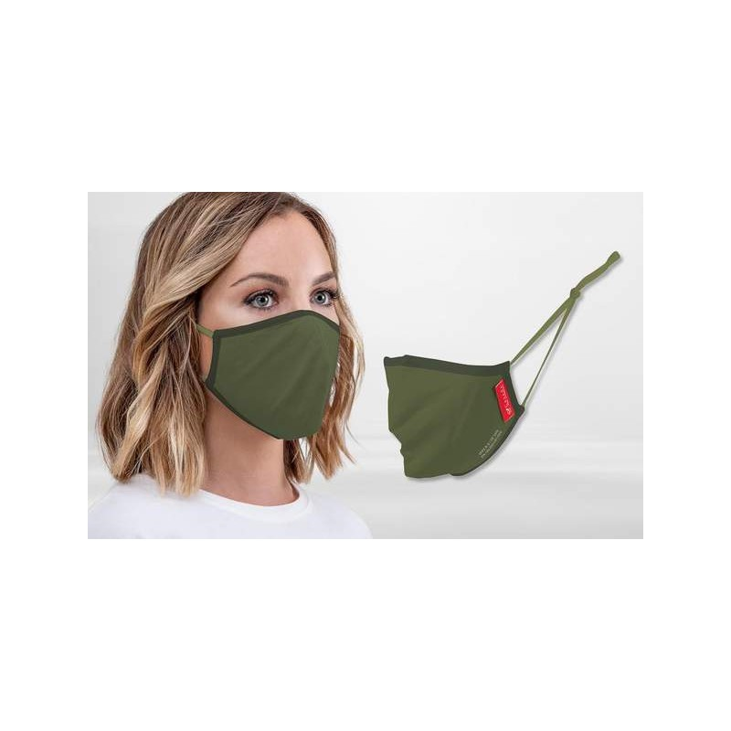 FFP2 Nano-Facemask, CE certified with adjustable ear loops Olive Green