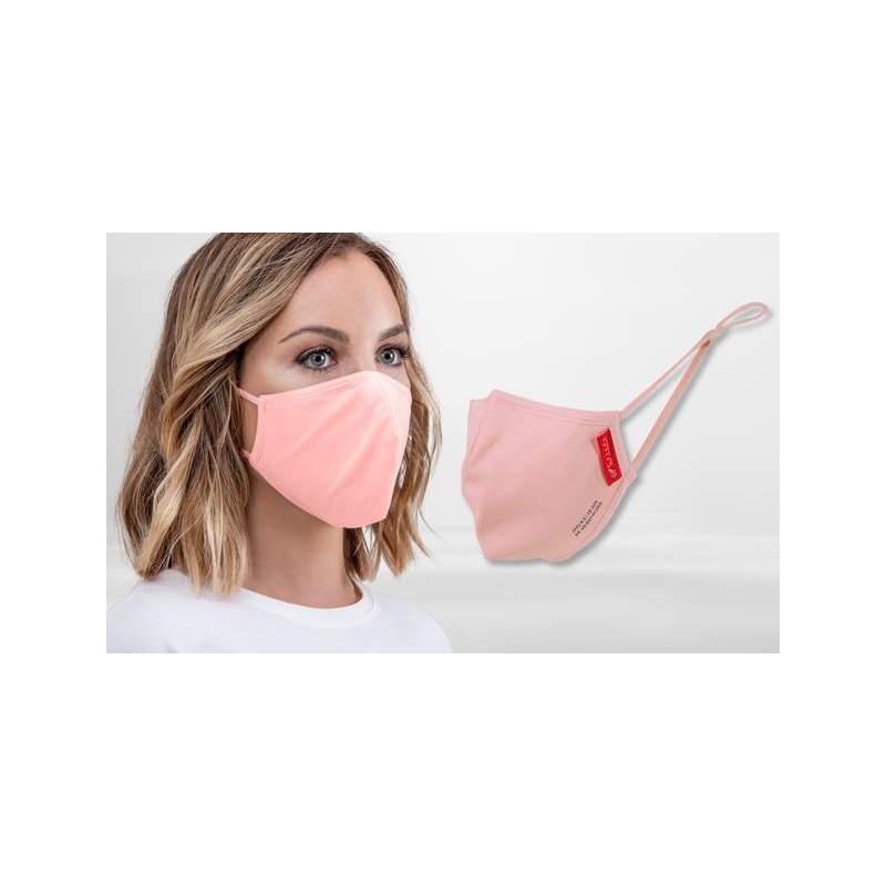 FFP2 Nano-Facemask, CE certified with adjustable ear loops Rosa