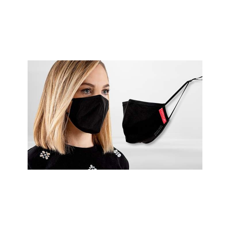 FFP2 Nano-Facemask, CE certified with adjustable ear loops Black