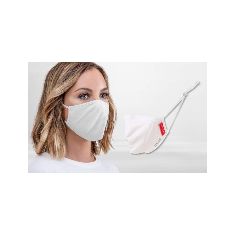 FFP2 Nano-Facemask, CE certified with adjustable ear loops White