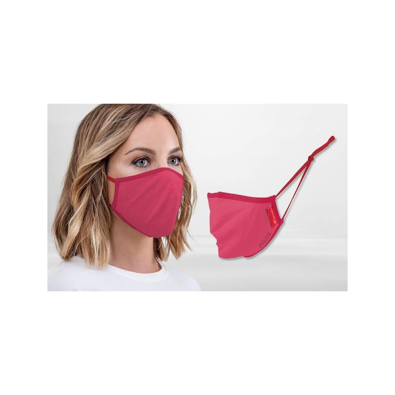 FFP2 Nano-Facemask, CE certified with adjustable ear loops Rose Red