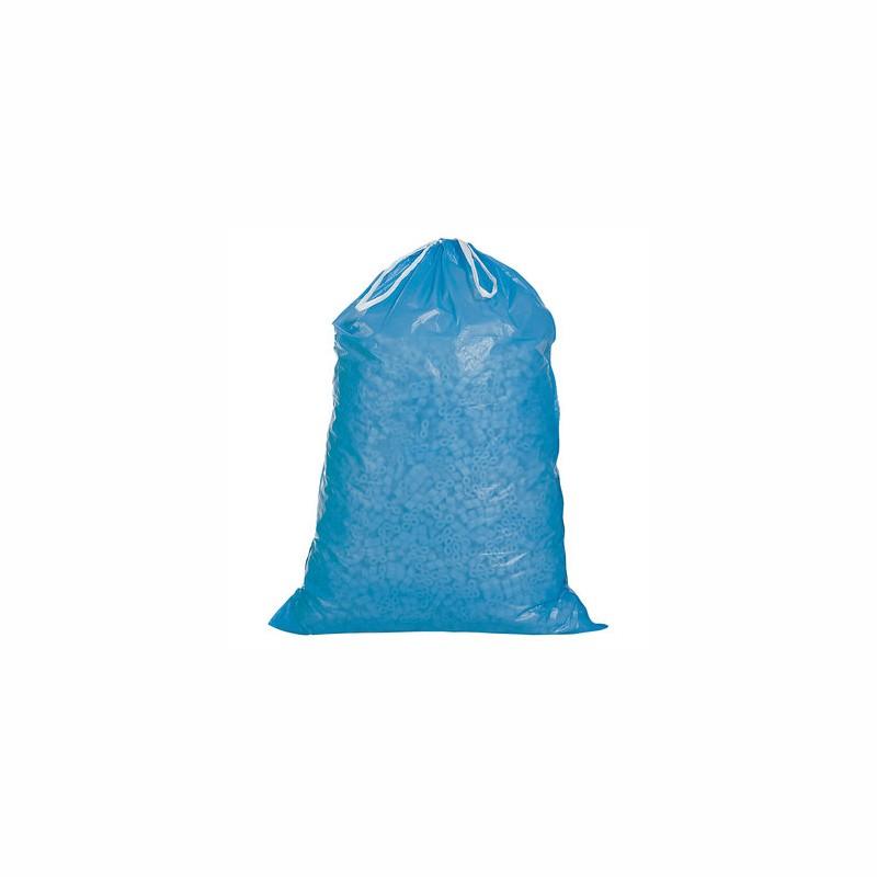 PE-Abfallsack mit Zugband 700x1000+50mm, 45µ. blau, Inhalt 120l. 25 St. je Ro./10 Ro. je Karton